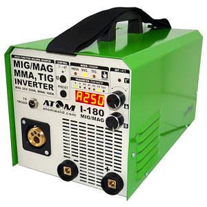 Полуавтомат Атом I-180 MIG/MAG с горелкой B15 и кабелем массы 2 м Binzel
