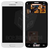 Дисплей для мобильного телефона Samsung G800H Galaxy S5 mini, белый, с сенсорным экраном, original (PRC)