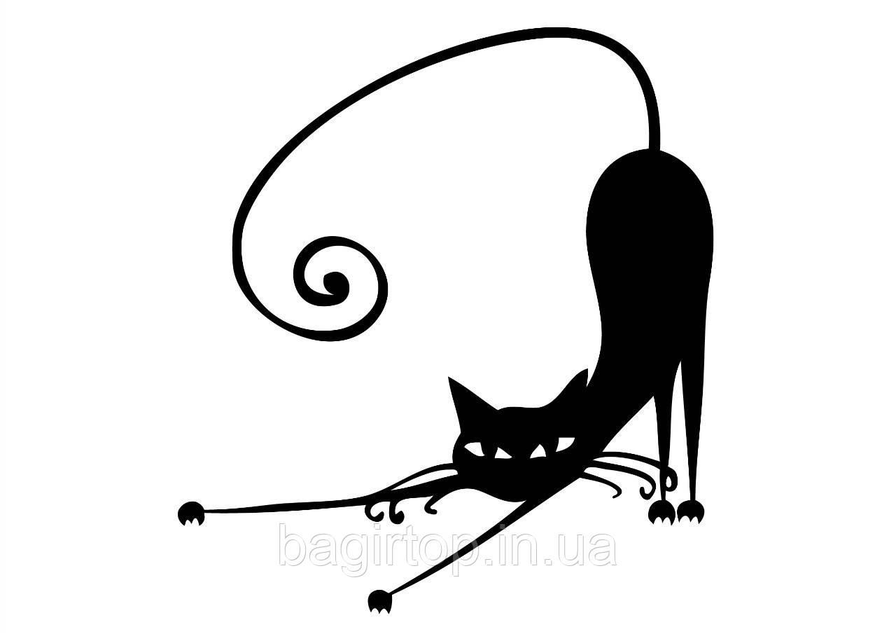 Виниловая наклейка-интерьерная (кошка)