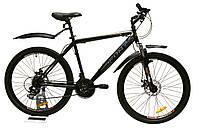 Велосипед горный Fort Master 26 Diskрама 19 черно-серо-красный