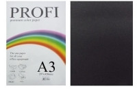 "Бумага цветная ""PROFI"" А3. 160 г\м2  черный BLACK"