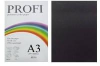 "Бумага цветная ""PROFI"" А3. 160 г\м2  черный BLACK, фото 1"