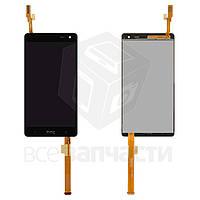 Дисплей для мобильных телефонов HTC Desire 600 Dual sim, Desire 606w, черный, с сенсорным экраном