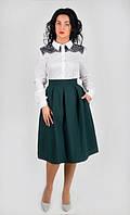 Оригинальная женская юбка со складками