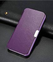 Бордовый чехол-книжка на магнитной застежке для Iphone 5/5S