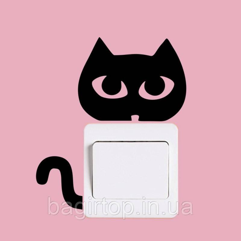 Виниловая наклейка-Кот(глазки)