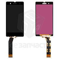 Дисплей для мобильных телефонов Sony C6602 L36h Xperia Z, C6603 L36i Xperia Z, C6606 L36a Xperia Z, черный, с сенсорным экраном, high-copy