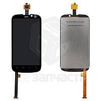 Дисплей для мобильных телефонов ZTE Grand X, Grand X IN, Mimosa X, V970, черный, с сенсорным экраном,