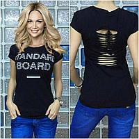 """Красивая футболка Турция """"Board"""" черный"""