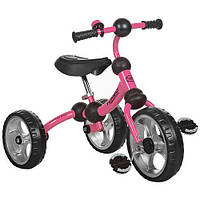 Детский трехколесный велосипед Turbotrike РОЗОВЫЙ (M 3192-3) со звонком