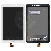 Дисплей для планшетов Huawei MediaPad T1 8.0 (S8-701u), MediaPad T1 8.0 LTE T1-821L, белый, с сенсорным экраном, #N080ICE-GB1 Rev.A1/HMCF-080-1607-V5