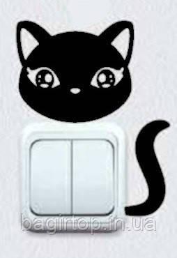Вінілова наклейка-Кішка