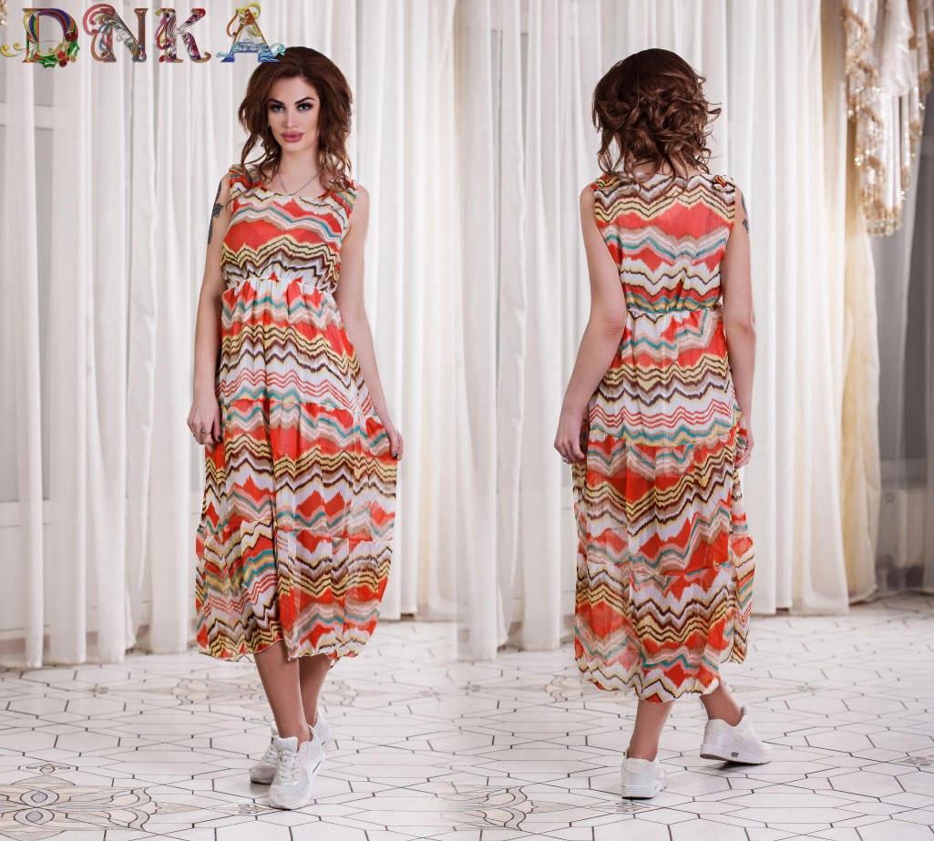 Шифонова літнє плаття (3 кольори)