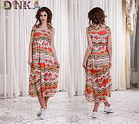 Шифоновое летнее платье (3 цвета)