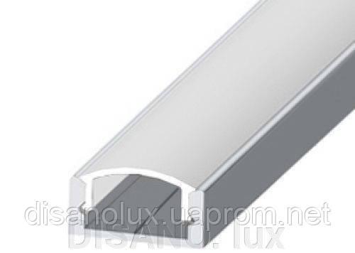 Комплект Профиль и рассеиватель  для светодиодной ленты  PL 5  накладной анодированный