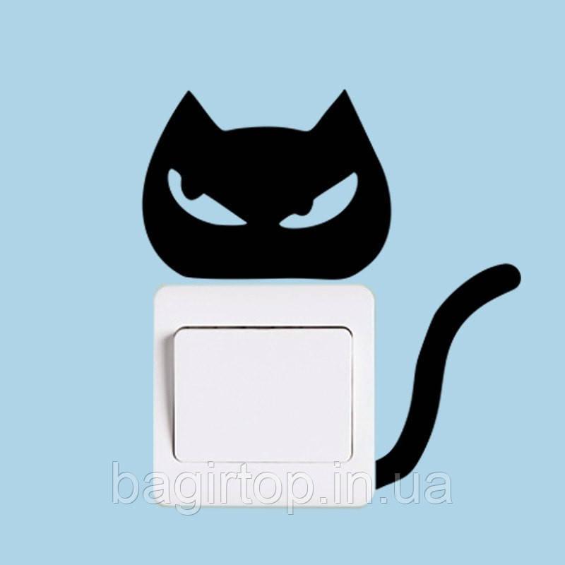 Виниловая наклейка- Кот(злюка)