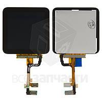 Дисплей для MP3-плеера Apple iPod Nano 6G, copy, черный, с сенсорным экраном