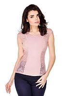 Лаурель розовая блузка короткий рукав
