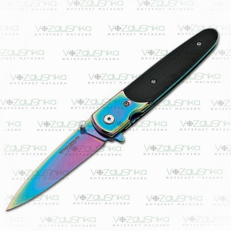 Нож Boker Magnum Bondsman Rainbow (01SC943) 440A, Al, клипса