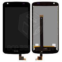 Дисплей для мобильного телефона HTC Desire 326G, черный, с сенсорным экраном, (128 × 66)