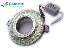Світильник вбудований з LED підсвічуванням Feron 7057 під лампу Mr16, фото 3