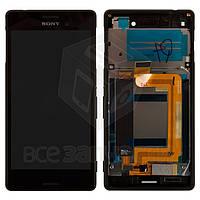 Дисплей для мобильных телефонов Sony E2312 Xperia M4 Aqua Dual, E2333 Xperia M4 Aqua Dual, черный, с рамкой, с сенсорным экраном, original (PRC)