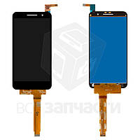 Дисплей для мобильных телефонов Vodafone Smart Prime 6; Alcatel VF895N, черный, с сенсорным экраном