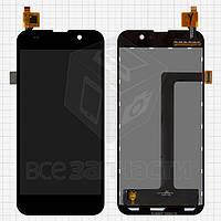 Дисплей для мобильных телефонов Zopo C2, C3, ZP980 Scorpio, черный, с сенсорным экраном, #LT050ANRP14A130607-02/BL-050ALP120511