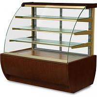 Кондитерская холодильная витрина JAMAJKA 1.3W (гнутое стекло)
