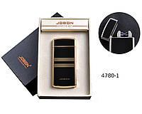 USB зажигалка Jobon №4780-1 электроимпульсная, две электродуги, индикатор заряда, счетчик сигарет.