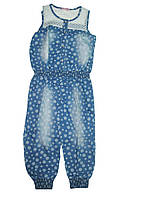 Джинсовый комбинезон для девочек, размер 4/5 лет, арт. 9317
