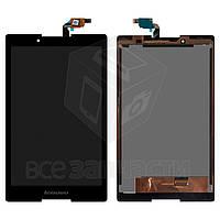 Дисплей для планшета Lenovo Tab 2 A8-50LC, черный, с сенсорным экраном, #TV080WXM-NL0/80WXM7040BZT