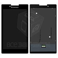 Дисплей для планшетов Lenovo Tab 2 A7-30, Tab 2 A7-30DC, Tab 2 A7-30F, Tab 2 A7-30HC, черный, с сенсорным экраном, #P070ACB-DB1 REV.A3