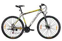 """Велосипед KINETIC UNIC 29'', рама 21"""", серо-желтый"""