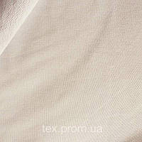 Трикотажное полотно футер петельчатый двунитка хлопок/эластан пенье, однотон светло-серый