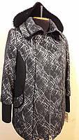 Пальто женское весеннее большого размера П 18