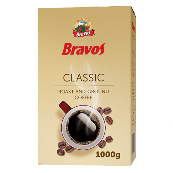 Кофе молотый Bravos Classic 0,5 кг