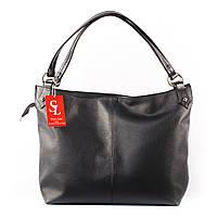 Большая сумка женская мягкая мешок черная
