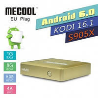 MECOOL, HM8,Smart TV Box, Amlogic Quad Core S905X, Android 6.0, TV Box ,4К, H.265, 1 ГБ RAM, 8 ГБ ROM, wi-fi 2