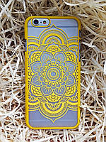 Пластиковый чехол Vintage Мандала iPhone 6S/6, желтый