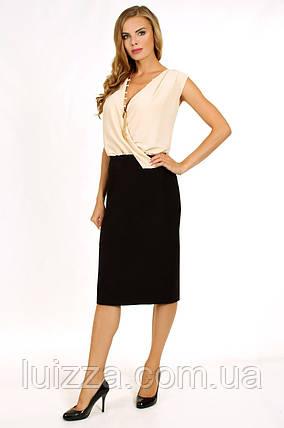 Коктейльное платье в деловом стиле с бижутерией 52,54рр, фото 2