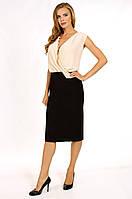Коктейльное платье в деловом стиле с бижутерией 52,54рр