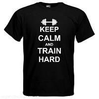 Футболка Keep calm and train hard