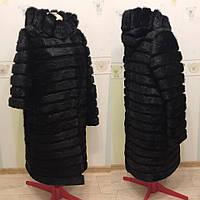 Шуба из меха нутрии, рукав-трансформер,  длина 100 см