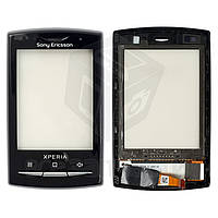Сенсорный экран для мобильного телефона Sony Ericsson X10 mini pro (U20),  с разборки, протестирован, черный