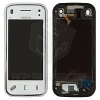 Сенсорный экран для мобильного телефона Nokia N97 Mini, с передней панелью, белый