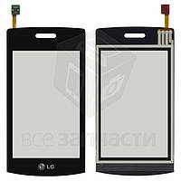 Сенсорный экран для мобильного телефона LG GT500, черный