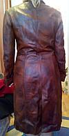 Шикарная кожаная куртка плащ тренч 100% Натуральная кожа