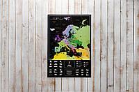 Скретч карта MyMap Europe Edition в металлической раме