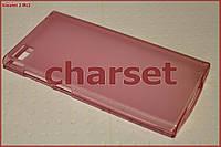Чехол бампер Xiaomi 3 M3 Mi3 силиконовый bs розовый